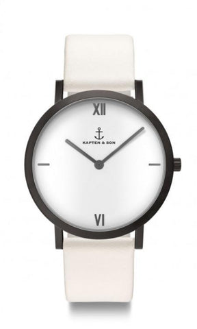 Montre Kapten & Son Pure Lux White Leather