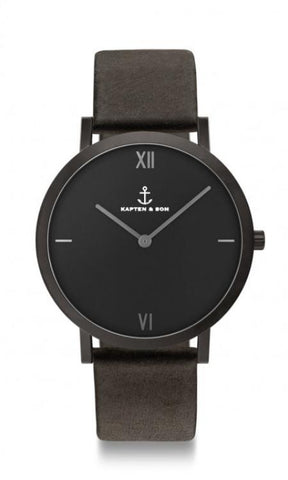 Montre Kapten & Son Pure Nox Black Leather