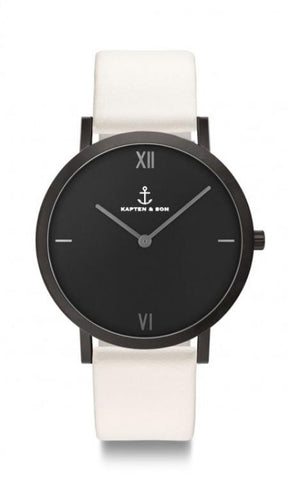 Montre Kapten & Son Pure Nox White Leather