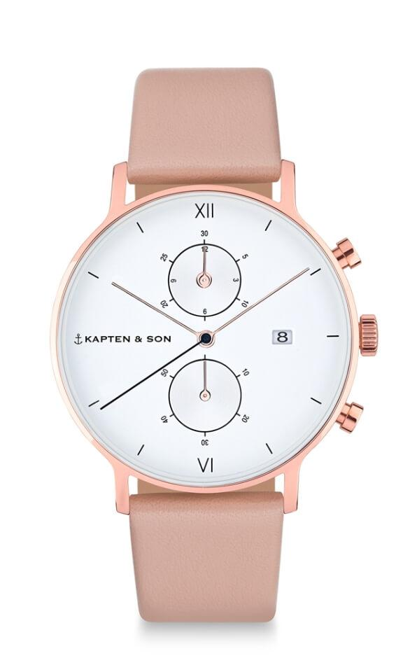 Montre Kapten & Son Chrono Cherry Blossom Leather - PRECIOVS
