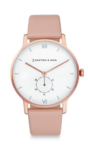 Montre Kapten & Son Heritage Cherry Blossom Leather