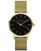 Montre Rosefield The MERCER Black Mesh Gold MBG-M46 - PRECIOVS
