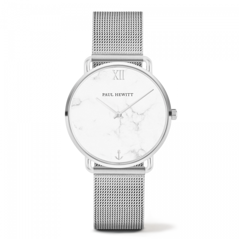 Montre Paul Hewitt Mermaid Line Marble Acier Inoxydable Bande Mesh