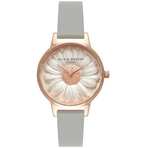 Montre Olivia Burton FLOWER SHOW 3D DAISY Grey Rose Gold OB15EG50