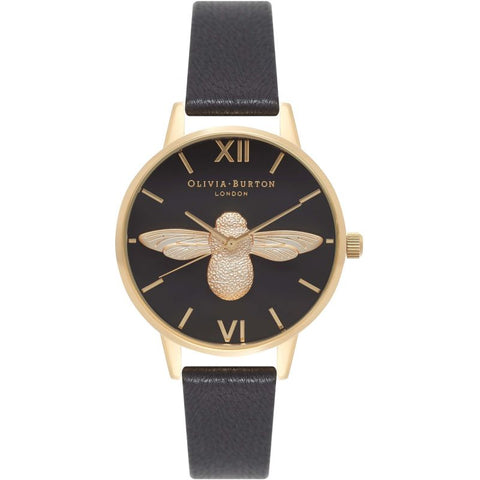 Montre Olivia Burton Animal Motif Black & Gold OB16AM118