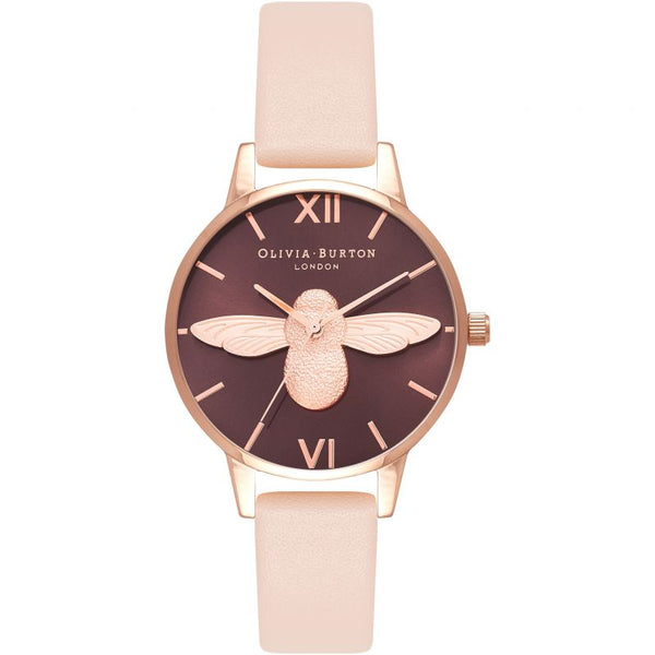 Montre Olivia Burton Animal Motif Chocolat & Nude Peach OB16AM124 - PRECIOVS