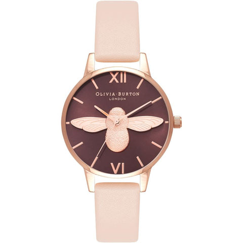 Montre Olivia Burton Animal Motif Chocolat & Nude Peach OB16AM124