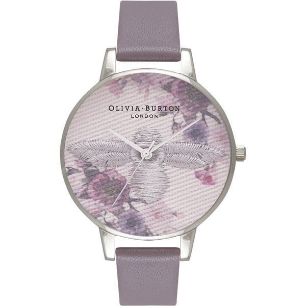 Montre Olivia Burton Embroidered Dial Grey Silver & London Grey OB16EM05 - PRECIOVS