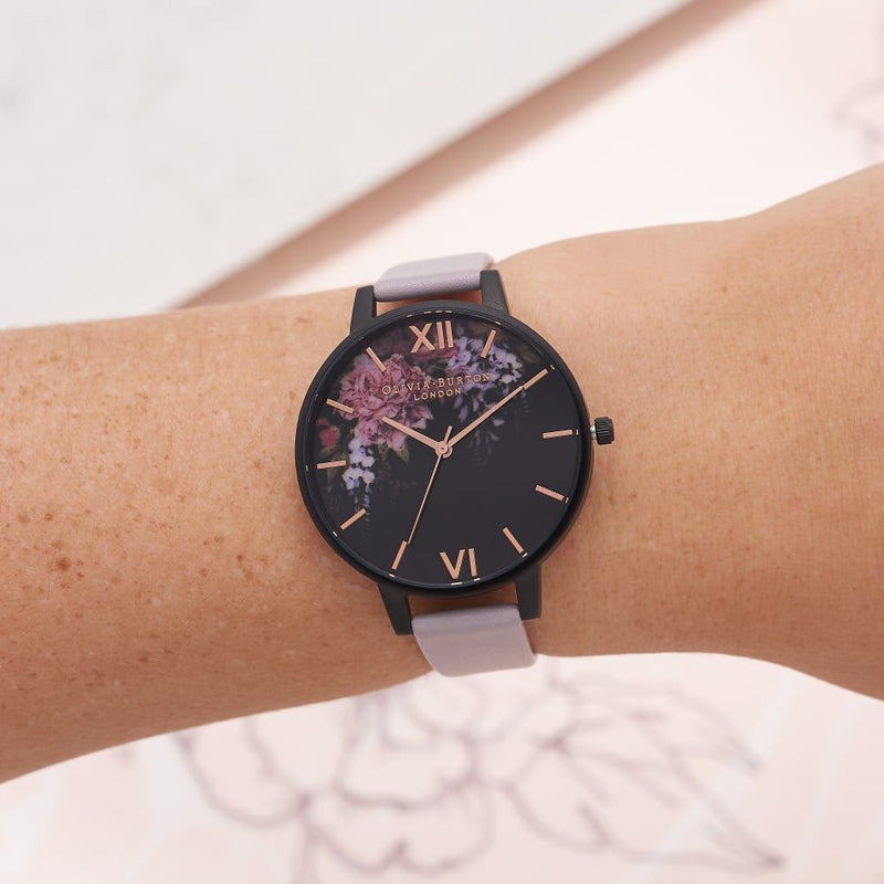 Montre Olivia Burton After Dark Grey Lilac & Black OB16AD15 - PRECIOVS