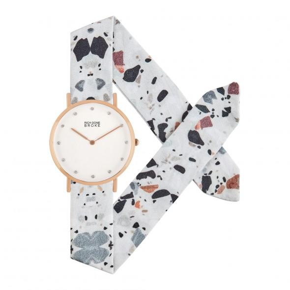 Montre RICH GONE BROKE Rose Gold Marcel Diamond Terrazzo - PRECIOVS