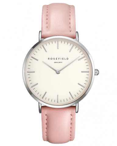 Montre Rosefield The BOWERY White Pink Silver BWPS-B8 - PRECIOVS
