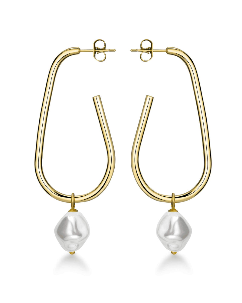 Boucles d'oreilles Rosefield The Jane Large Liquid Pearl J184 - PRECIOVS