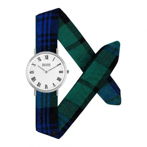 Montre RICH GONE BROKE Silver Marcel Blue Tartan