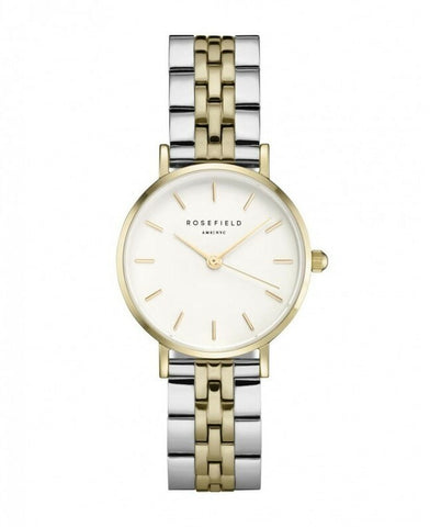 Montre Rosefield THE SMALL EDIT White Steel Silver Gold Duo 269