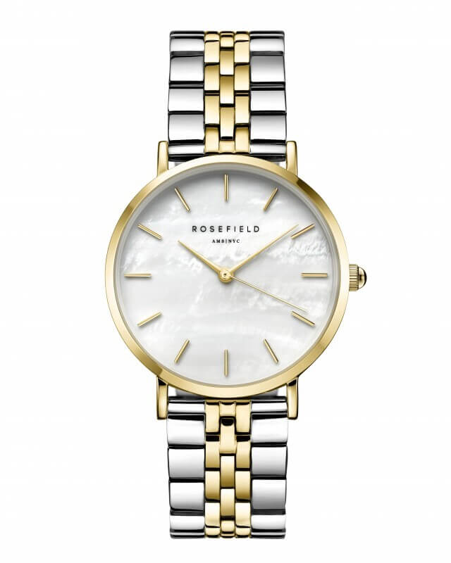Montre Rosefield The Upper East Side Silver Gold Duotone U30 - PRECIOVS