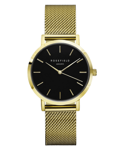 Montre Rosefield The TRIBECA Black Mesh Gold TBG-T60 - PRECIOVS