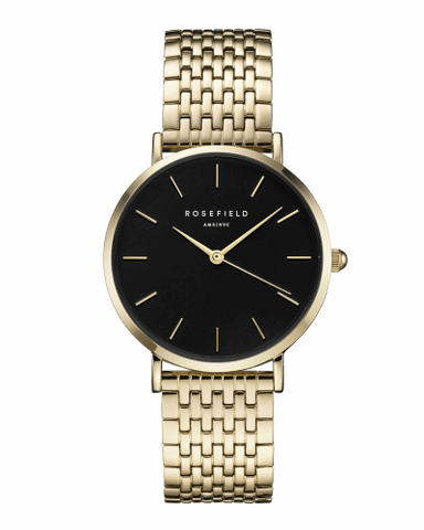 Montre Rosefield THE UPPER EAST SIDE Black Gold uebg-u24
