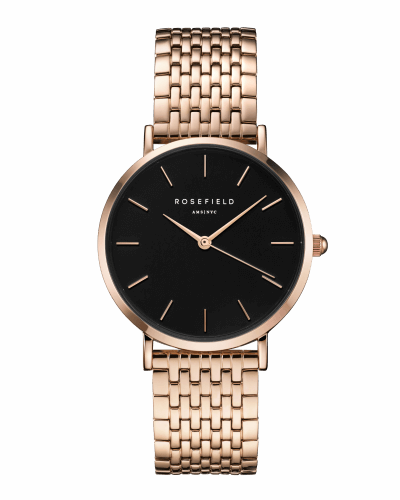 Montre Rosefield THE UPPER EAST SIDE Black Rosegold UEBR-U23 - PRECIOVS