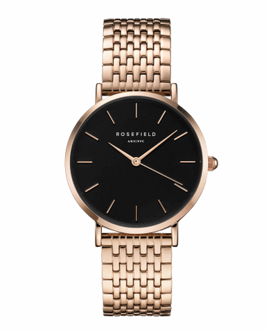 Montre Rosefield THE UPPER EAST SIDE Black Rosegold uebr-u23