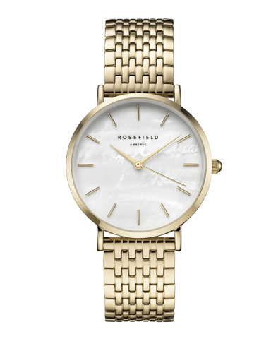 Montre Rosefield THE UPPER EAST SIDE White MOP Gold uewg-u21
