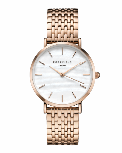 Montre Rosefield THE UPPER EAST SIDE White MOP Rosegold UEWR-U20 - PRECIOVS