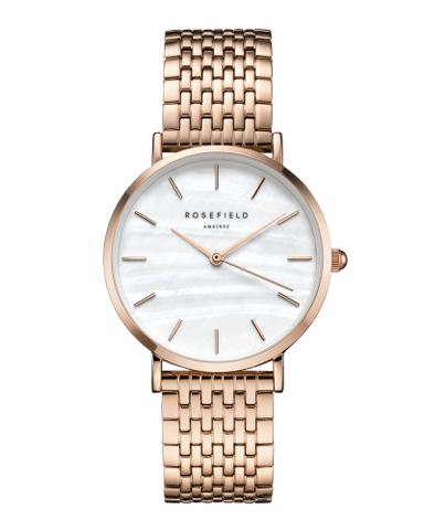 Montre Rosefield THE UPPER EAST SIDE White MOP Rosegold uewr-u20