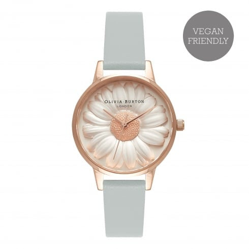 Montre Olivia Burton VEGAN FRIENDLY 3D DAISY GREY & ROSE GOLD OB16VE01 - PRECIOVS