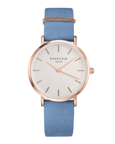 Montre Rosefield THE WEST VILLAGE Airy Blue Rosegold WAGR-W76 - PRECIOVS