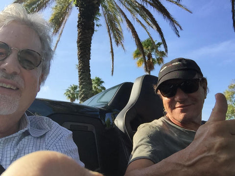 AC/DC rocker Brian Johnson and Asius Technologies Founder Stephen Ambrose enjoying sunny California.