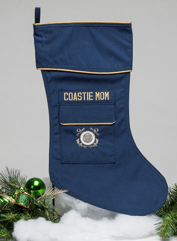Coast Guard Mom Christmas Stocking