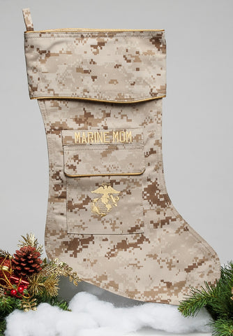 Marine Mom Christmas Stocking
