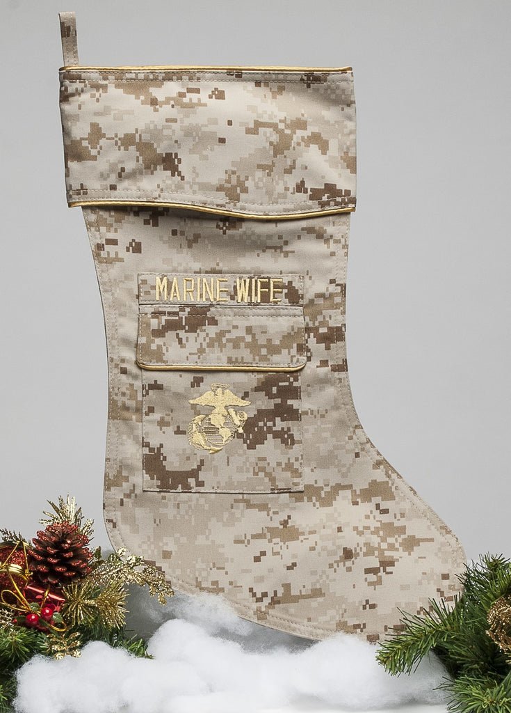 Marine Wife Christmas Stocking