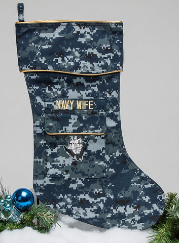 Navy Wife Christmas Stocking