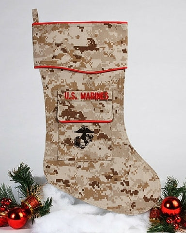 U.S. Marine Christmas Stocking-Desert