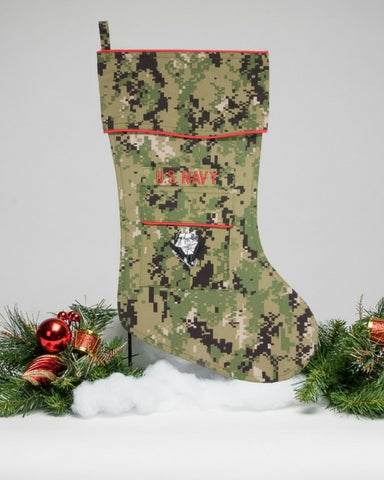 Navy Christmas Stocking - NWU-111 by Camosock