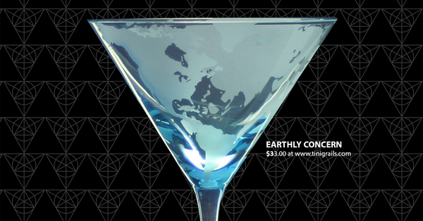 Earthly Concern martini glass from Tini Grails