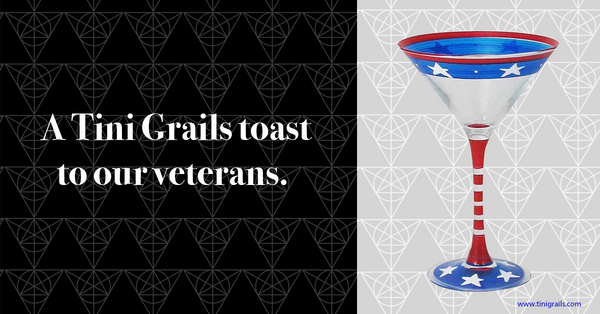 Veterans Day martini glass The Patriot at Tini Grails