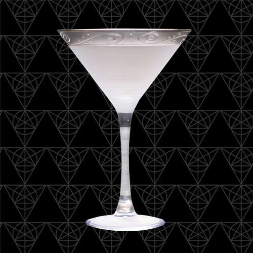 The Statesman martini glass at Tini Grails against black