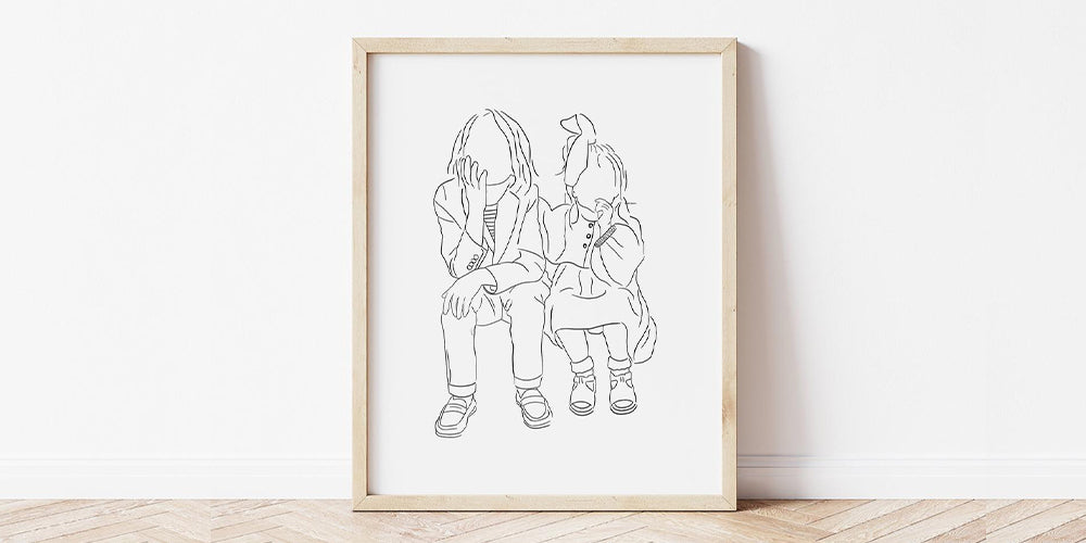 Personalised Family Portrait Drawing