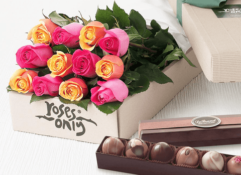 Roses and chocolates US delivery