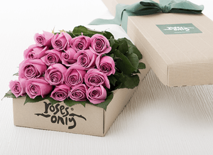 Mother's Day 18 Mauve Roses Gift Box