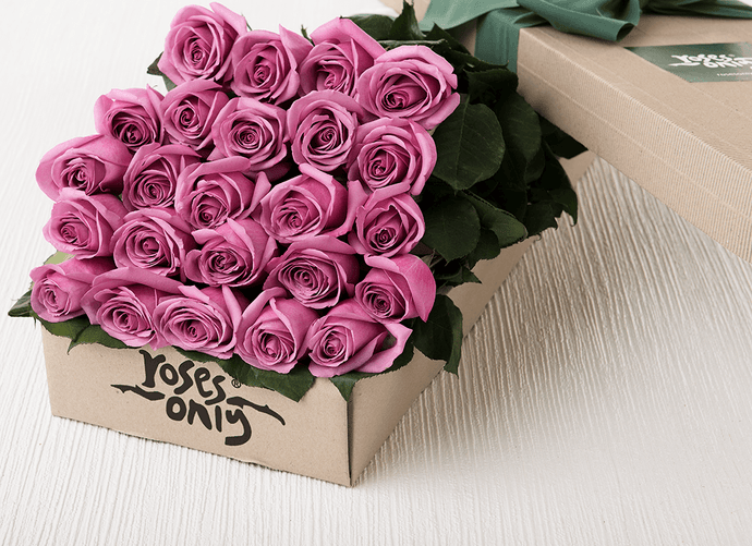Mother's Day 24 Mauve Roses Gift Box