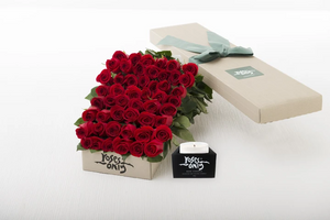 50 Red Roses Gift Box & Scented Candle