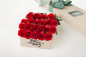 21 Red Roses  Gift Box