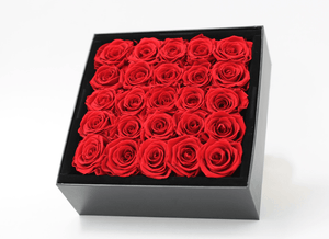 Mother's Day Stunning red infinity roses, beautifully presented in a black box