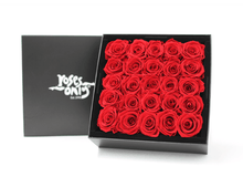 25 Red Year Long Infinity Roses