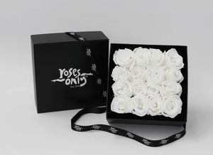 16 Valentines White Cream Year Long Infinity Roses