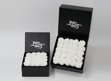 25 White Cream Infinity Preserved Roses