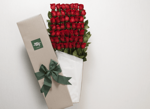 50 Red Roses Valentines Gift Box