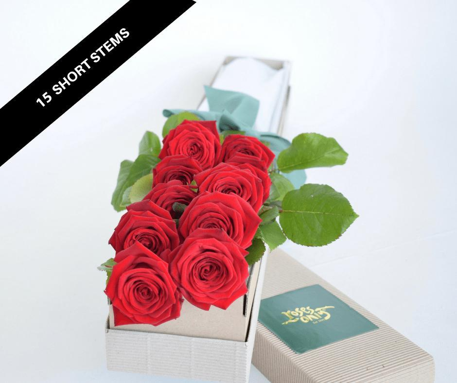 Roses only signature 15 short roses boxes